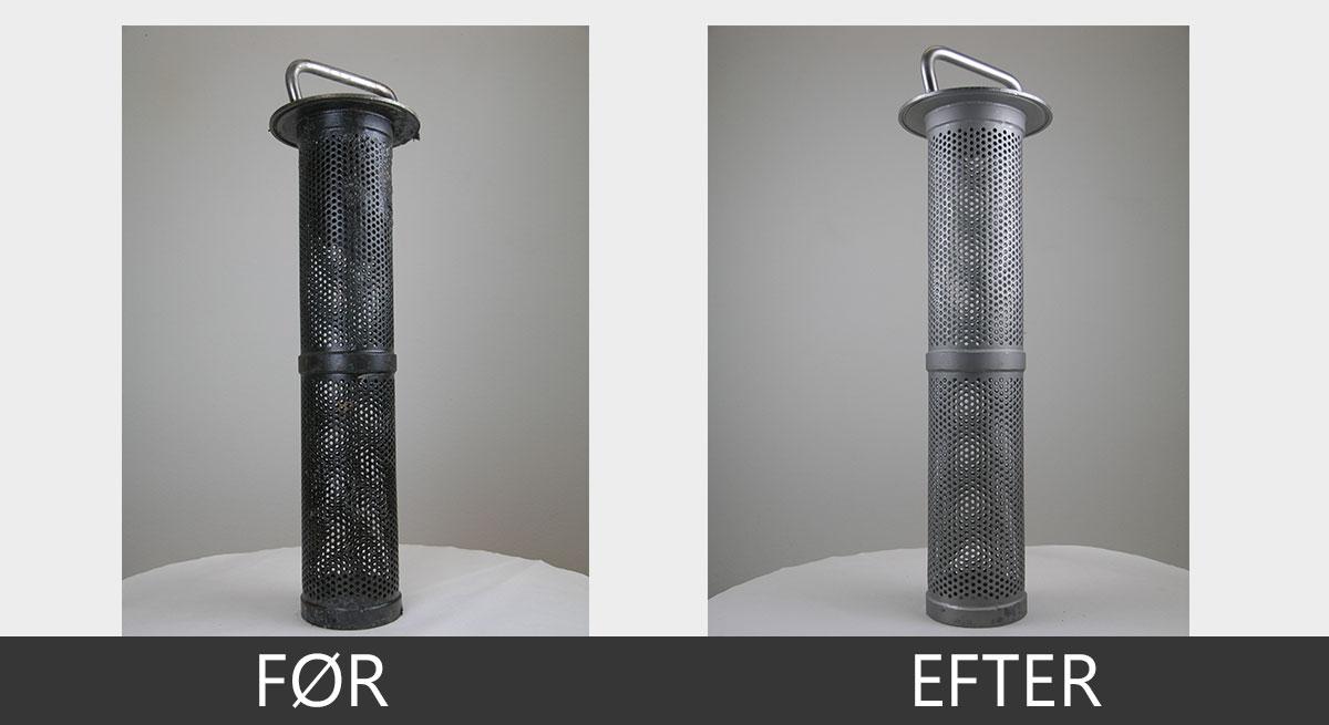 Ultralydsrensning af filter