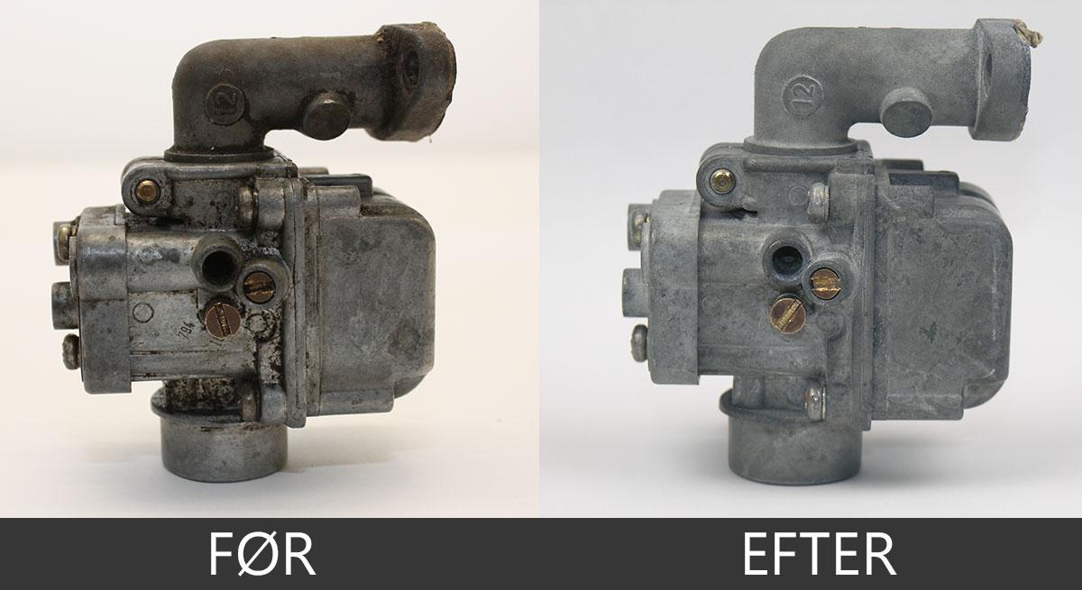 Ultralydsrensning af karburator
